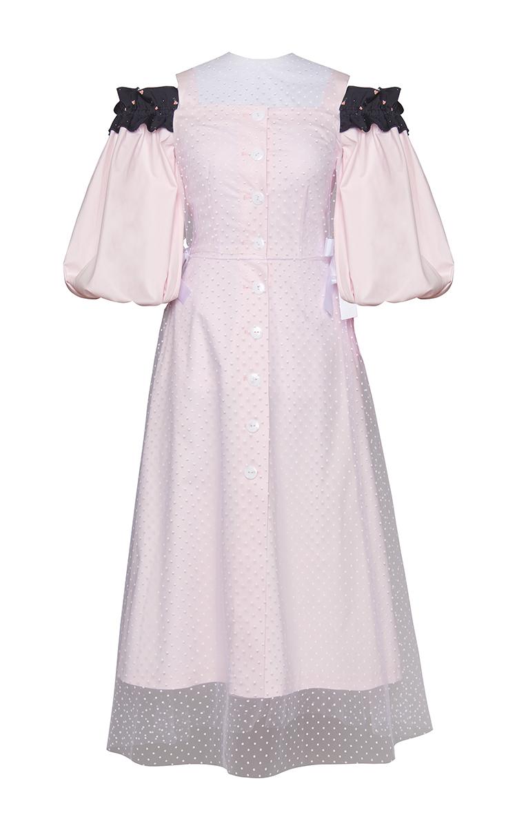 3f1af0bc363b5 Marianna SenchinaPuff Sleeve Cold Shoulder Ruffle Dress. CLOSE. Loading