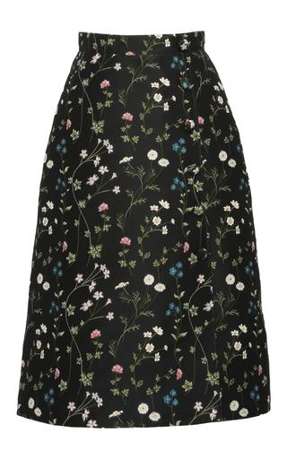 Medium giuseppe di morabito black floral jacquard a line skirt