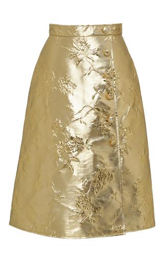 Medium giuseppe di morabito gold metallic chinoiserie jacquard skirt