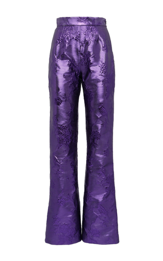 Medium giuseppe di morabito purple metallic chinoiserie jacquard trousers