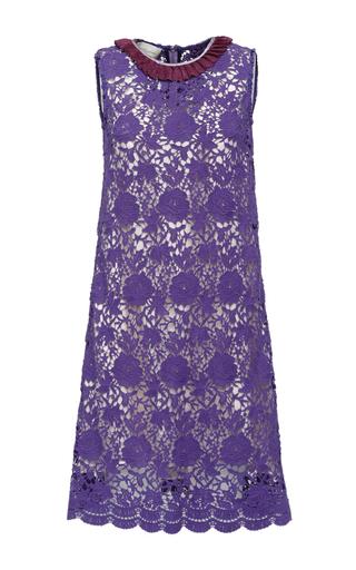Medium giuseppe di morabito purple macrame and lurex dress