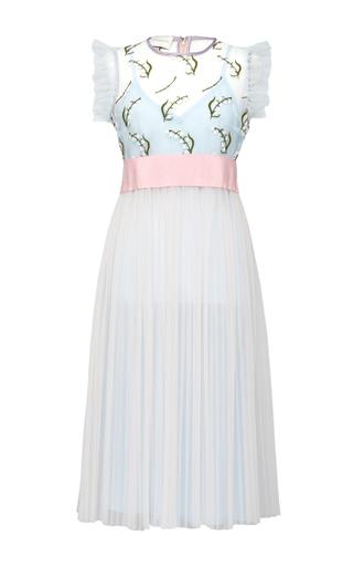 Medium giuseppe di morabito blue transparent embroidered tulle dress