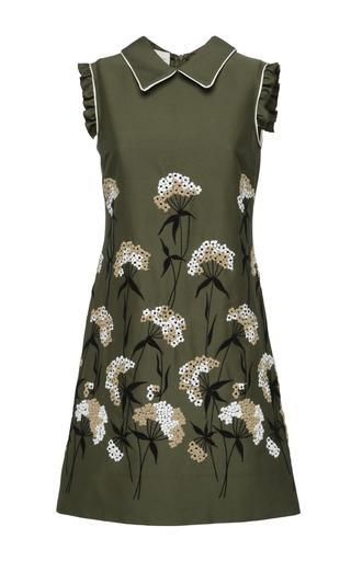 Medium giuseppe di morabito green military embroidered dress