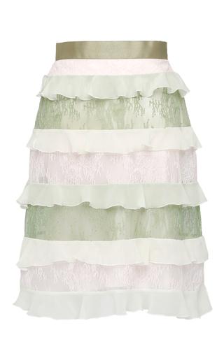Medium giuseppe di morabito multi multicolor lace and volant skirt
