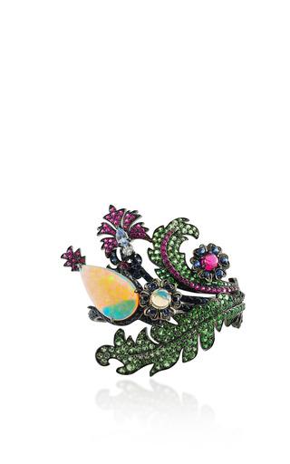 Medium lydia courteille multi pear opal floral ring