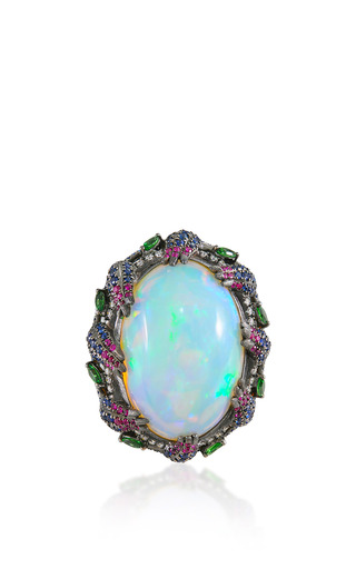 Medium lydia courteille white opal ring