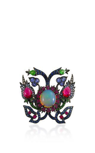 Medium lydia courteille multi opal and ruby ring