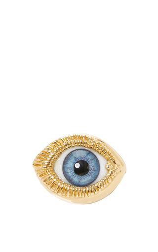 Medium ines figaredo gold eye brooch