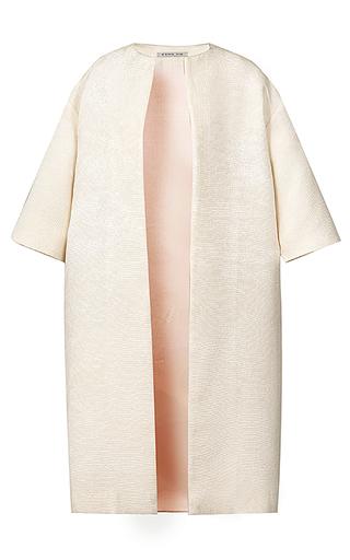 Medium esme vie neutral luster short sleeve coat