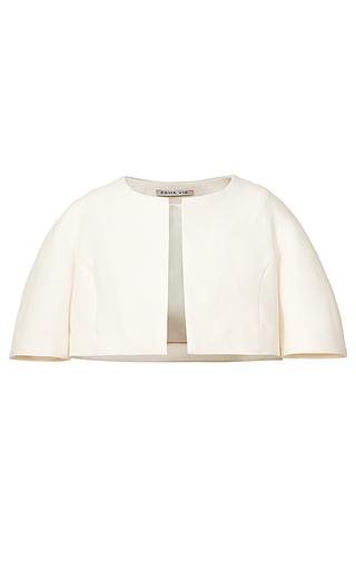 Medium esme vie white carambola cropped jacket