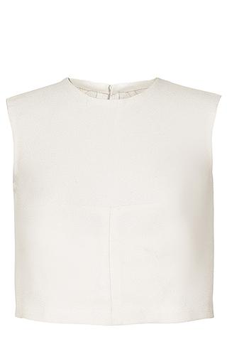 Medium esme vie white shent cropped sleeveless top 2