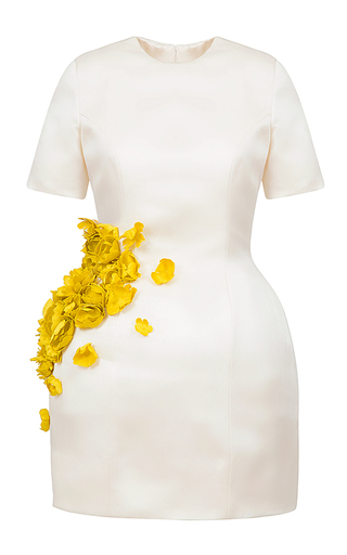 Medium esme vie white zeste floral applique mini dress