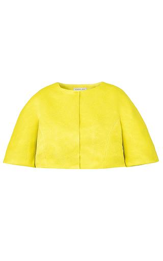 Medium esme vie yellow carambola cropped silk jacket