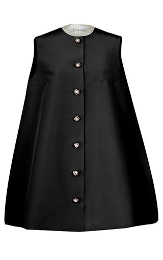 Medium esme vie black nuvola flower pearl trapeze line dress