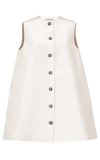 Medium esme vie white nuvola flower pearl trapeze line dress 2