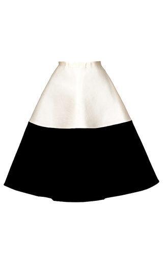 Medium esme vie white color block a line skirt