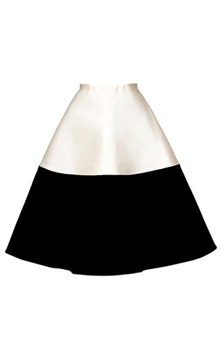 Medium esme vie white color block a line skirt