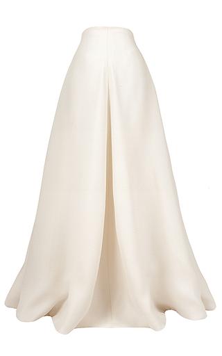 Medium esme vie white shent floor length pleated skirt