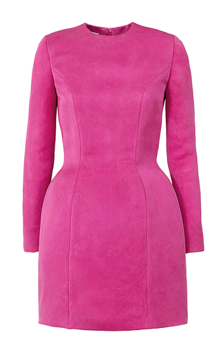 Medium esme vie pink fraise long sleeve mini dress