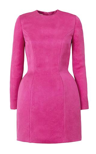 Medium esme vie pink fraise long sleeve mini dress