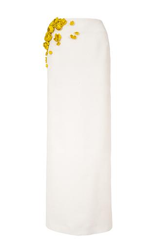 Medium esme vie white zeste floral applique column skirt