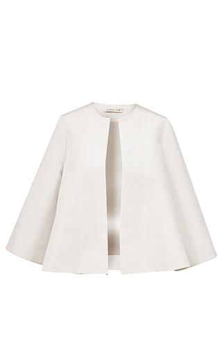Medium esme vie white nuvola three quarter sleeve jacket 2