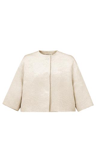 Medium esme vie white luster short sleeve jacket 2