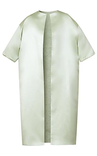 Medium esme vie green luster short sleeve coat 2