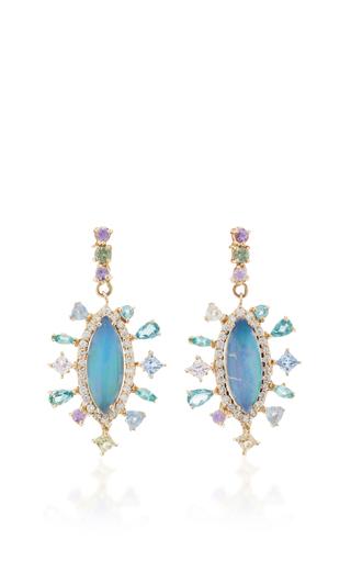 Medium eden presley blue ethiopian opal earrings