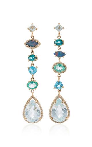 Medium eden presley blue light blue topaz earrings