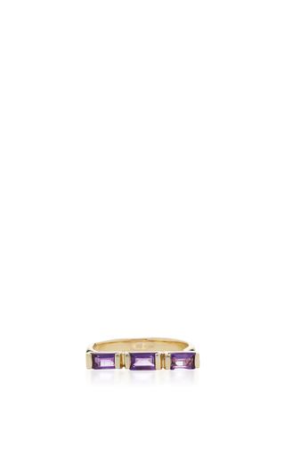 Medium eden presley purple birthstone ring in amethyst