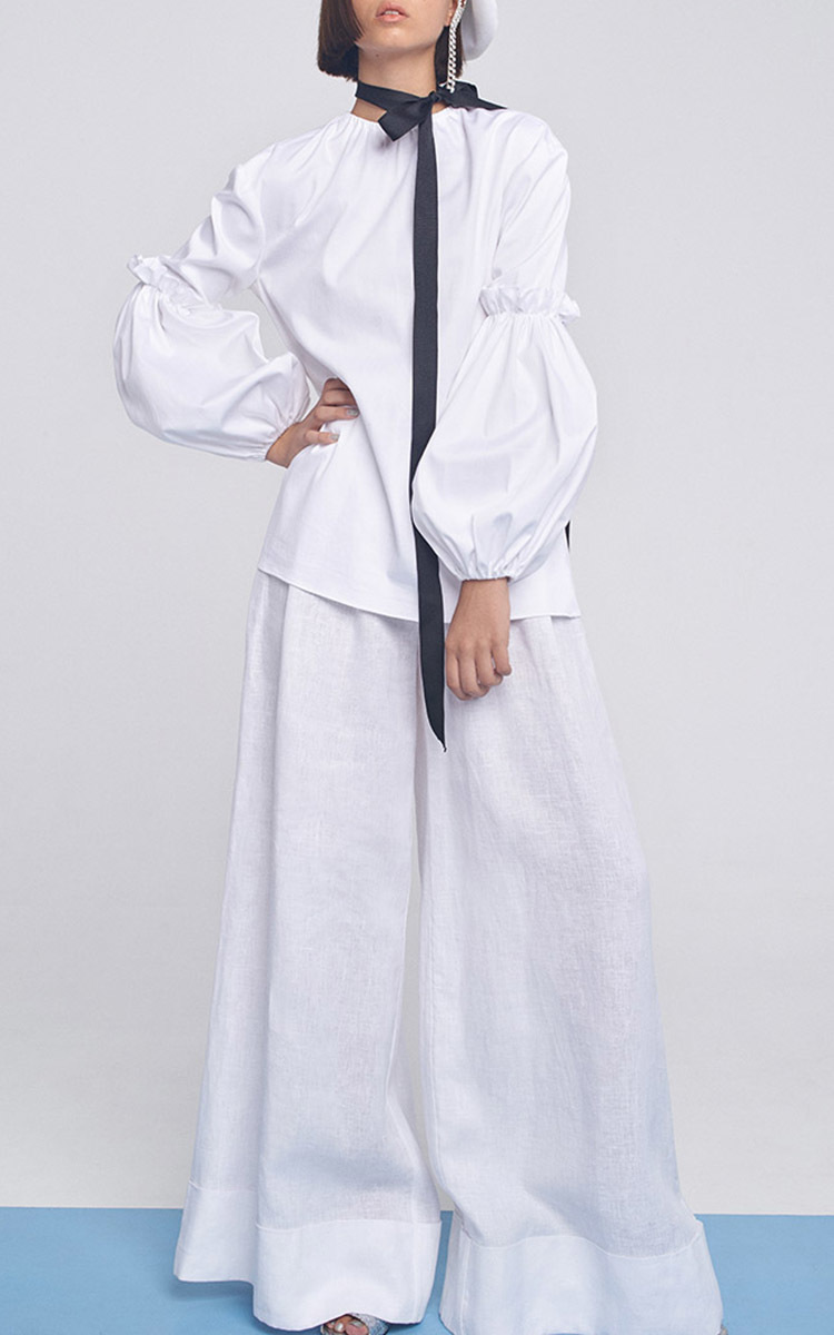Tie back balloon sleeve shirt by marianna senchina moda for How to make a tie back shirt