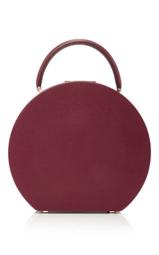 Medium bu wood burgundy bumi22 leather top handle bag