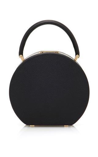 Medium bu wood black bumi14 leather tote