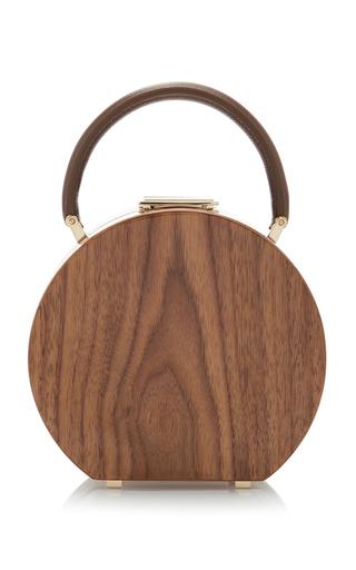 Medium bu wood white bumi14 american walnut top handle bag
