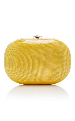 Medium jeffrey levinson yellow marigold linen clutch
