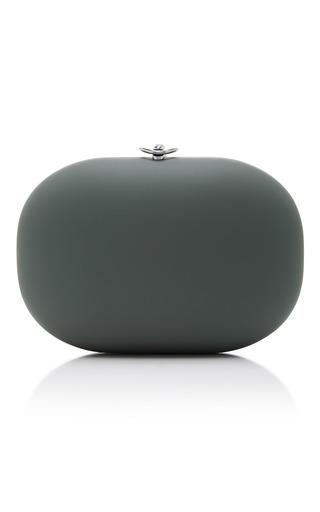 Medium jeffrey levinson dark grey olive stone clutch