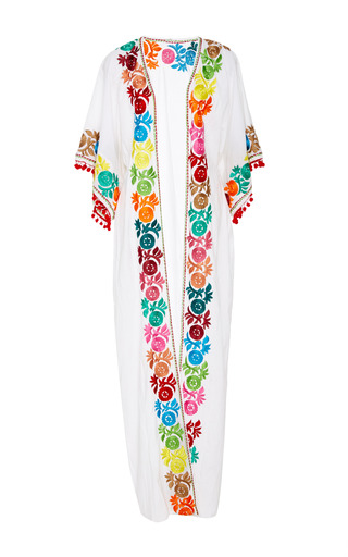 Medium chantik white embroidered maxi cover up