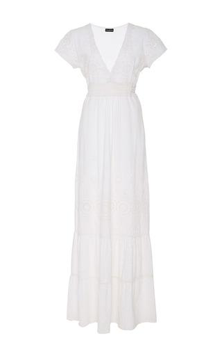 Medium chantik white natural eyelet maxi dress