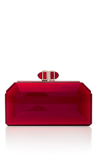 Medium judith leiber red judith leiber couture red faceted clutch