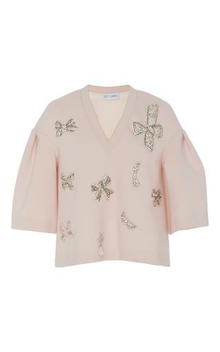 Medium dice kayek pink embellished wide blouse