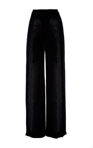 Medium ms min black wide leg velvet trousers