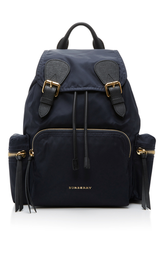 Medium burberry blue utility backpack