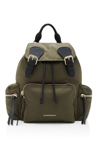 Medium burberry green medium rucksack