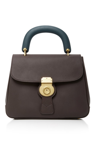 Medium burberry brown the portrait leather tote 2