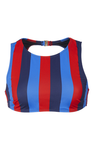 Medium solid striped stripe olivia southampton striped bikini top