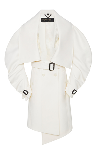 Medium burberry white double faced wool coat
