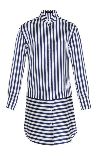 Medium burberry stripe striped silk and cotton blend dress