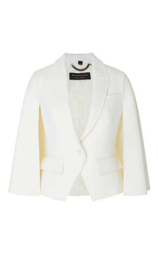 Medium burberry white double faced wool jacket