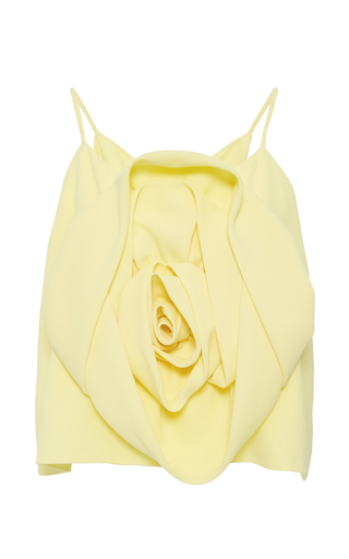 Medium kimhekim yellow crepe flower blouse